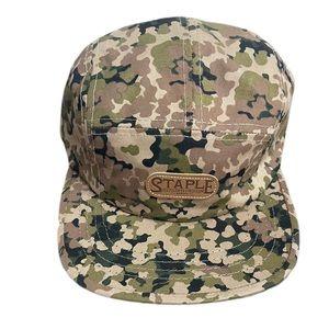 NWT Staple Olive Green & Tan Camouflage buckle hat